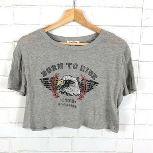 Billabong Born to Ride Cropped Graphic Tee